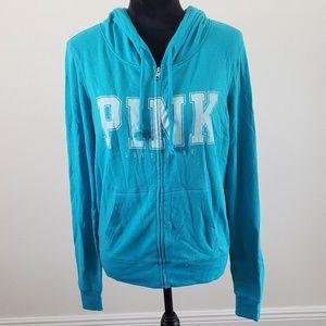 B2G1 Victoria's Secret Pink Blue Terry Hoodie